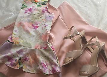 Goodwill Kansas News Article June 2017 Thrift Women Wedding Fashion Floral Peplum Ann Taylor Skirt Listing Image