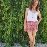 Goodwill Kansas News Article August 2017 Summer Fashion Thrift Orange Shorts