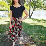 Goodwill Kansas News Article September 2017 Floral Thrift Black Skirt