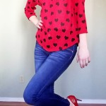 Goodwill Kansas News Article February 2018 Valentine Red Hearts Blouse
