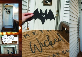 Thrifty Halloween Door Decor