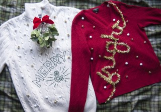 DIY Holiday Couples Sweater