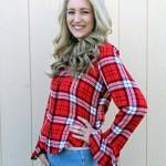 Goodwill Kansas December 2019 Blog Holiday Flannel Shirt Closeup