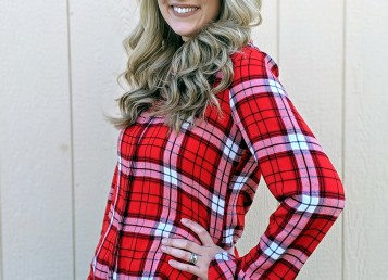 Goodwill Kansas December 2019 Blog Holiday Flannel Shirt Closeup
