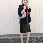Goodwill Kansas December 2019 Blog Holiday Outfit Sequin Skirt