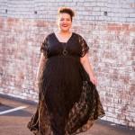 Goodwill Maxi Dress Black Lace Gothic Fashion