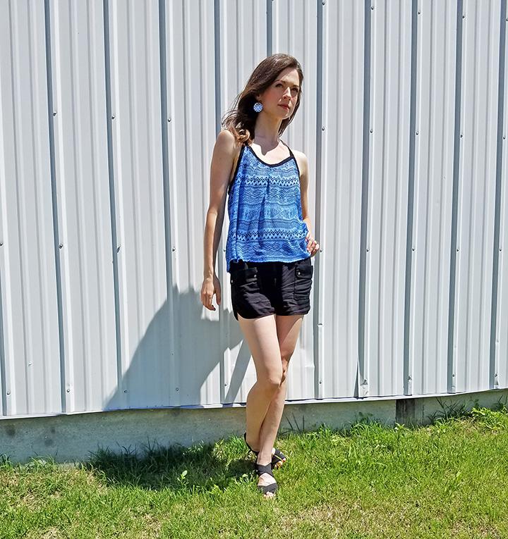 5a457c5ef89 goodwill-kansas-news-article-July-2017-thrift-women-summer-fashion -gap-shorts-blue-top